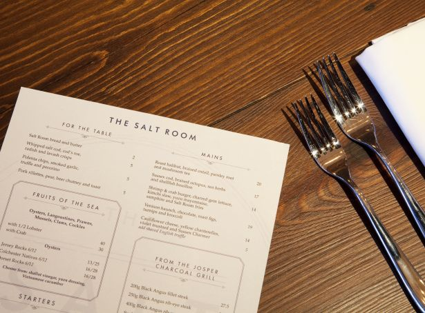 The Salt Room Menu