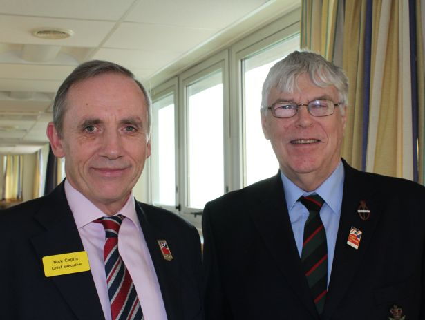Chief Executive Major General (Rtd) Nick Caplin CB and John Gasston