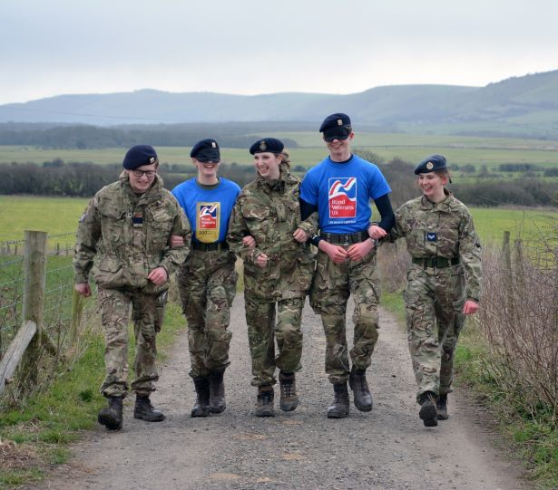 Blindfolded Walk for Blind Veterans UK