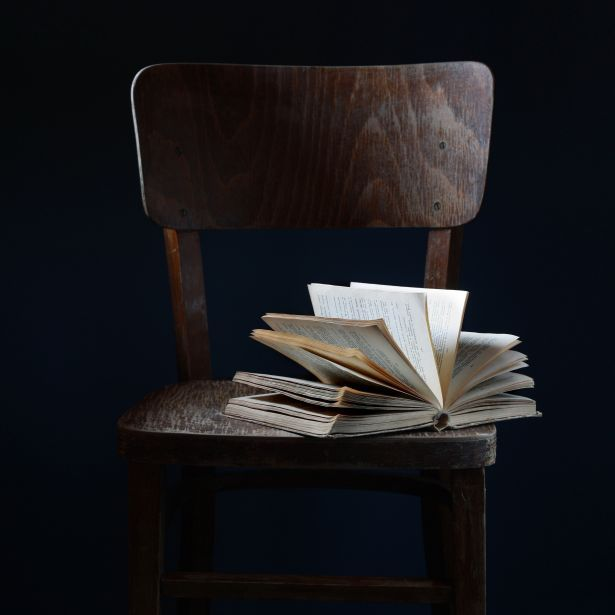 book chair dark