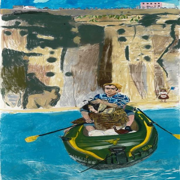 Paula Rego Rowing from Ericeira 2014 (c) the artist. Courtesy Marlborough Fine Art