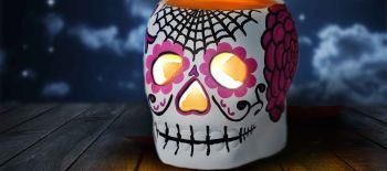 Paint A Skull tealight holder - Squire's (002)
